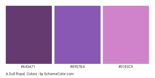 A Dull Royal - Color scheme palette thumbnail - #643a71 #8957B4 #d183c9