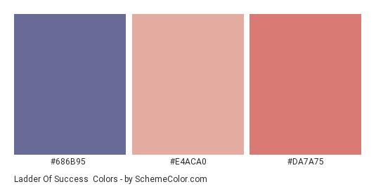 Ladder of Success - Color scheme palette thumbnail - #686b95 #e4aca0 #da7a75