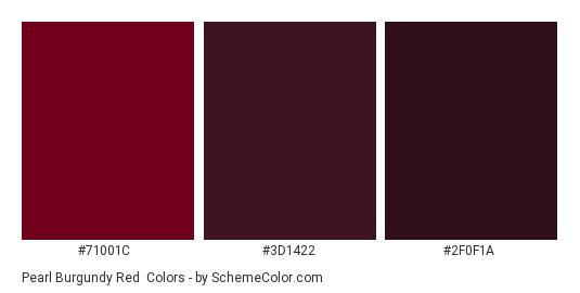 Pearl Burgundy Red - Color scheme palette thumbnail - #71001C #3D1422 #2F0F1A