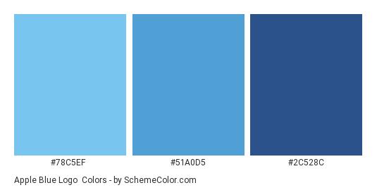 Apple Blue Logo - Color scheme palette thumbnail - #78c5ef #51a0d5 #2c528c