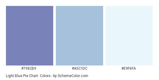 Light Blue Pie Chart - Color scheme palette thumbnail - #7982B9 #A5C1DC #E9F6FA