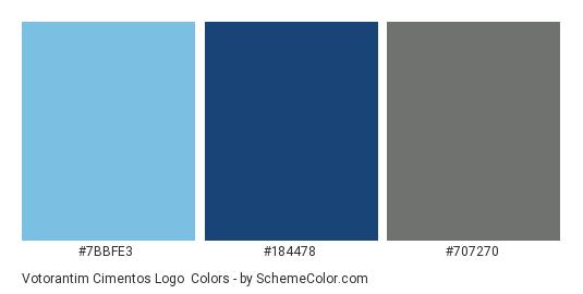 Votorantim Cimentos Logo - Color scheme palette thumbnail - #7bbfe3 #184478 #707270