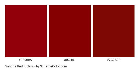 Sangria Red - Color scheme palette thumbnail - #92000A #850101 #7C0A02