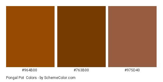 Pongal Pot - Color scheme palette thumbnail - #964B00 #763B00 #975D40