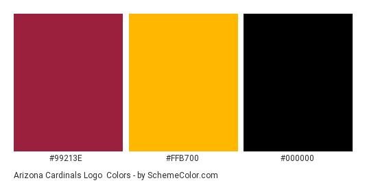 Arizona Cardinals Logo - Color scheme palette thumbnail - #99213e #ffb700 #000000