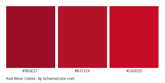 Red Wine - Color scheme palette thumbnail - #9b0e27 #b31329 #c60d25