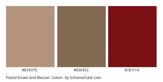 Pastel Brown and Maroon - Color scheme palette thumbnail - #B3937E #836952 #7B1114