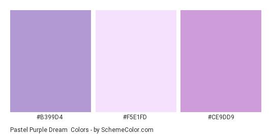 Pastel Purple Dream Color Scheme Palette Thumbnail B399d4 F5e1fd Ce9dd9