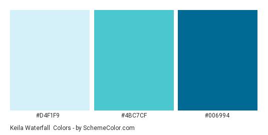 Keila Waterfall - Color scheme palette thumbnail - #D4F1F9 #4BC7CF #006994