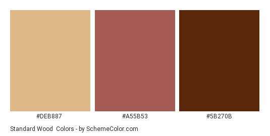 Standard Wood Color Scheme Palette Thumbnail Deb887 B53 5b270b