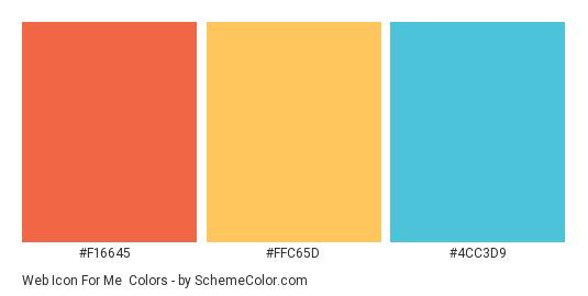 Web Icon For Me - Color scheme palette thumbnail - #F16645 #FFC65D #4CC3D9