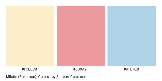 Milotic (Pokemon) - Color scheme palette thumbnail - #FCEEC8 #ED9A9F #AFD4E8