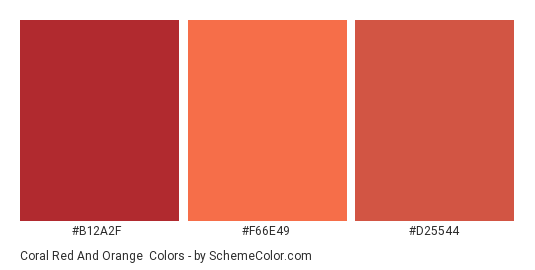 C Red And Orange Color Scheme Palette Thumbnail B12a2f F66e49 D25544