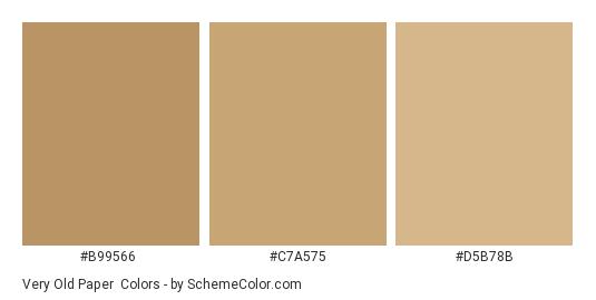 Very Old Paper - Color scheme palette thumbnail - #b99566 #c7a575 #d5b78b