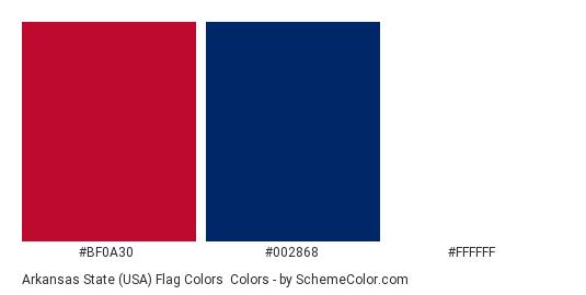 0f17cdc824f Arkansas State (USA) Flag Colors - Color scheme palette thumbnail -  bf0a30