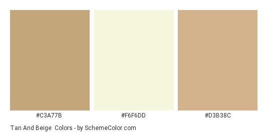 Tan And Beige Color Scheme » Beige » SchemeColor com