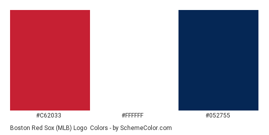 908d8608eb5 Boston Red Sox (MLB) Logo - Color scheme palette thumbnail -  c62033