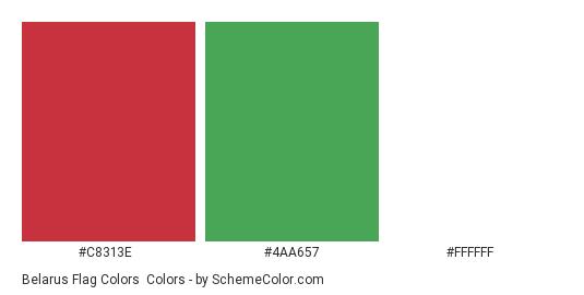Belarus Flag Colors - Color scheme palette thumbnail - #c8313e #4aa657 #ffffff