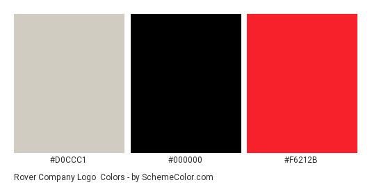 Rover Company Logo - Color scheme palette thumbnail - #d0ccc1 #000000 #f6212b