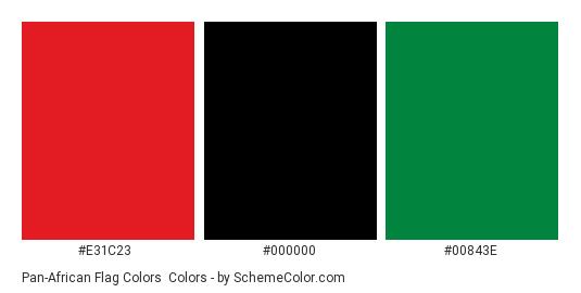 Pan-African Flag Colors Color Scheme » Flags » SchemeColor com