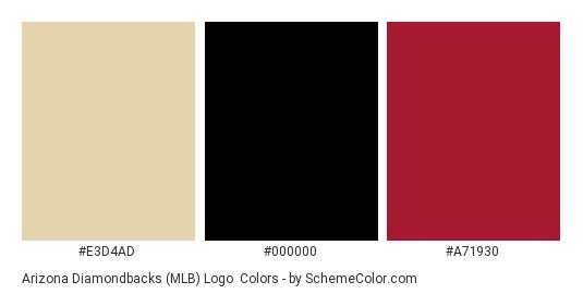 Arizona Diamondbacks (MLB) Logo - Color scheme palette thumbnail - #e3d4ad #000000 #a71930