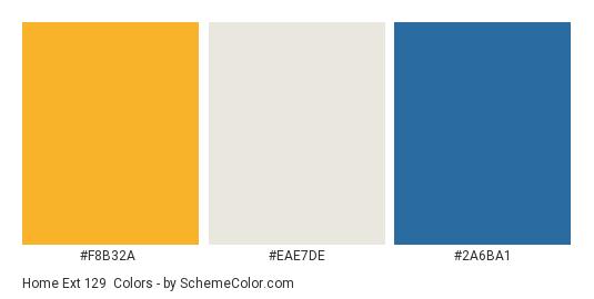 Home Ext 129 - Color scheme palette thumbnail - #f8b32a #eae7de #2a6ba1