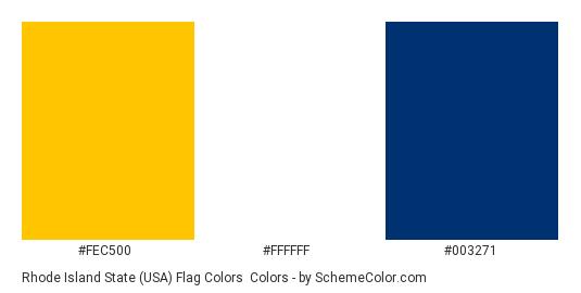Rhode Island State (USA) Flag Colors - Color scheme palette thumbnail - #fec500 #ffffff #003271