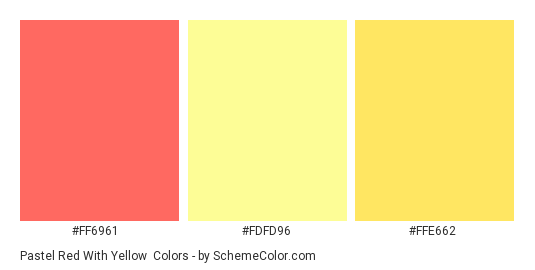 Pastel Red With Yellow Color Scheme Schemecolor