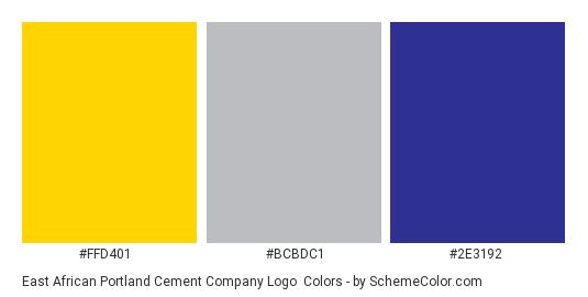 East African Portland Cement Company Logo - Color scheme palette thumbnail - #ffd401 #bcbdc1 #2e3192