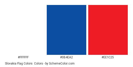 Slovakia Flag Colors - Color scheme palette thumbnail - #ffffff #0b4ea2 #ee1c25