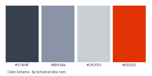Beautiful Gray And Red House Color Scheme Palette Thumbnail 37404f 8b93a6