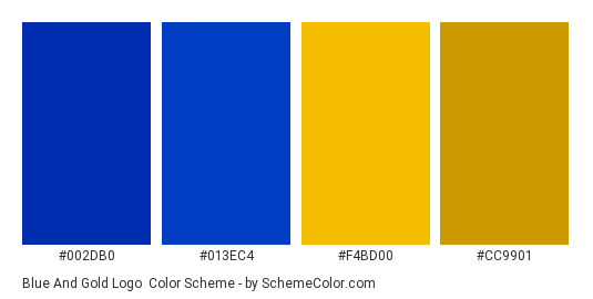 Blue And Gold Logo Color Scheme Blue Schemecolor Com