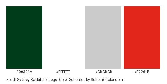 South Sydney Rabbitohs Logo Color Scheme Brand And Logo Schemecolor Com