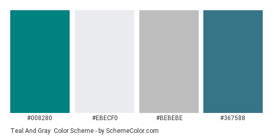 Teal And Gray Color Scheme Gray Schemecolor Com