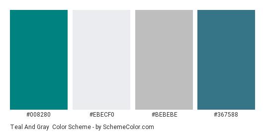Teal And Gray Color Scheme Palette Thumbnail 008280 Ebecf0 Bebebe