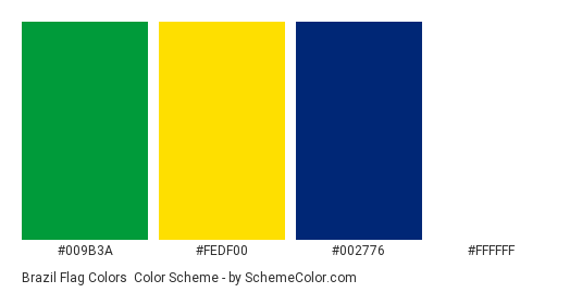 Brazil Flag Pantone Colors