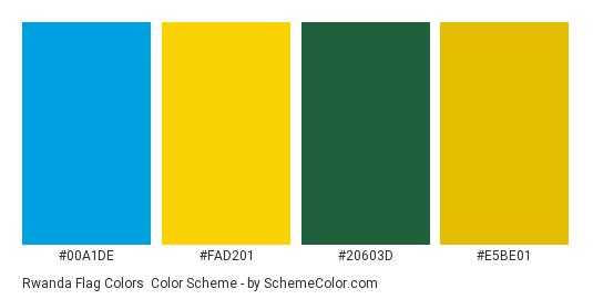 Rwanda Flag Colors Color Scheme Country Flags SchemeColorcom - Rwanda flag