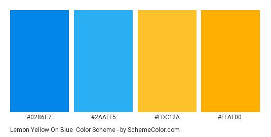 Lemon Yellow On Blue Color Scheme » Blue » SchemeColor.com