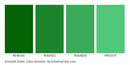 Emerald Green - Color scheme palette thumbnail - #046306 #1b842c #3aab58 #4fc879