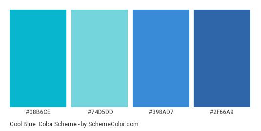 Cool Blue Color Scheme Palette Thumbnail 08b6ce 74d5dd 398ad7 2f66a9