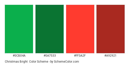 Christmas Green Color.Christmas Bright Color Scheme Christmas Schemecolor Com