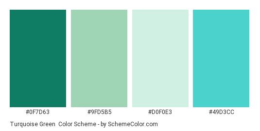 Turquoise Green Color Scheme Palette Thumbnail 0f7d63 9fd5b5 D0f0e3 49d3cc