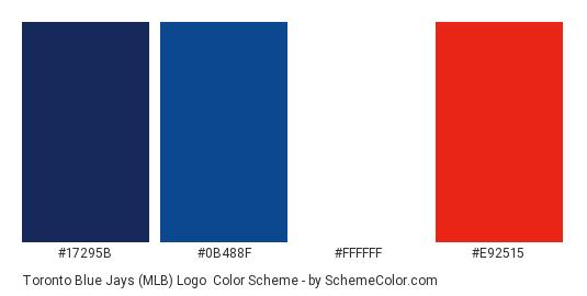 Toronto Blue Jays Mlb Logo Color Scheme Palette Thumbnail 17295b