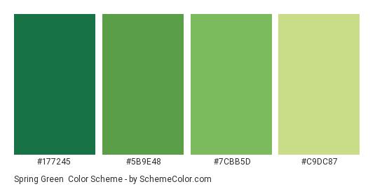Spring Green - Color scheme palette thumbnail - #177245 #5b9e48 #7cbb5d #c9dc87