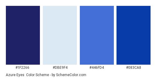 Azure Eyes - Color scheme palette thumbnail - #1F2266 #DBE9F4 #446FD4 #083CA8
