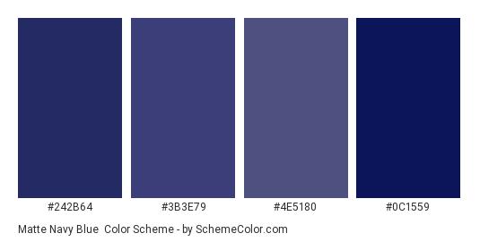 Matte Navy Blue - Color scheme palette thumbnail - #242b64 #3b3e79 #4e5180 #0c1559