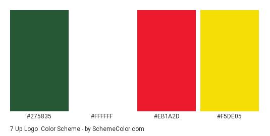 7 Up Logo Color Scheme Palette Thumbnail 275835 Ffffff Eb1a2d