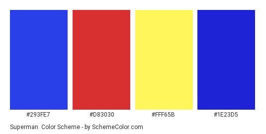 Superman Color Scheme Blue SchemeColor
