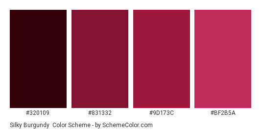 silky burgundy color scheme burgundy schemecolor com
