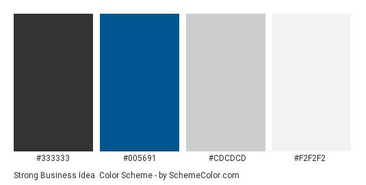 Strong Business Idea - Color scheme palette thumbnail - #333333 #005691 #CDCDCD #F2F2F2